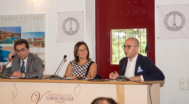 Chair Prof. Vlasidis-Konstantinos Bogdanos(Greek Press)- Dragana Markovits( Serbian Press)